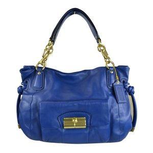 Coach Blue Kristin Leather Shoulder Bag